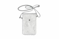 Geanta mica telefon mobil piele naturala Argintiu