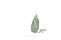 Geanta postas piele naturala Dama bottle-Verde