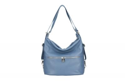Rucsac/geanta umar piele naturala Dama Albastru