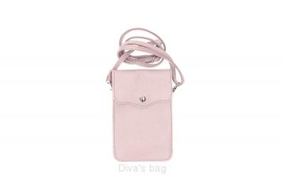 Geanta mica telefon mobil piele naturala powder-Roz
