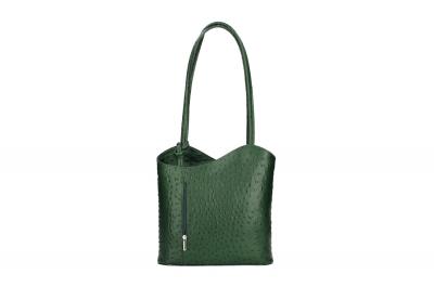 Rucsac din piele naturala Dama bottle-Verde