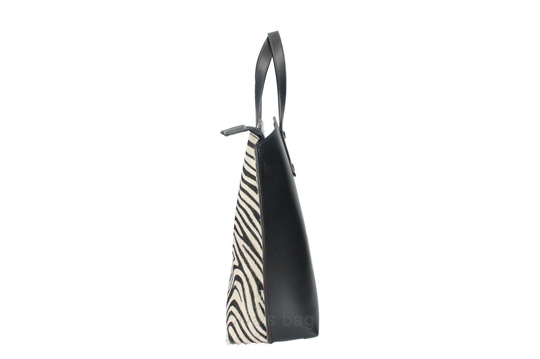 Geanta de mana piele naturala Dama Zebra