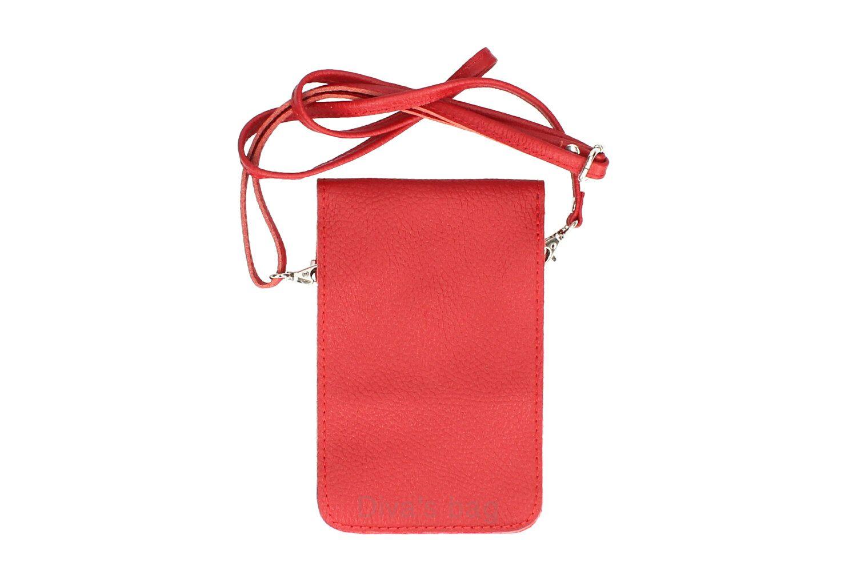 Geanta mica telefon mobil piele naturala Roz-barbie